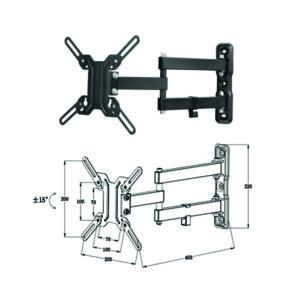Soporte Articulado Pared Tv Monitor Rotacion PHBA2705BA7