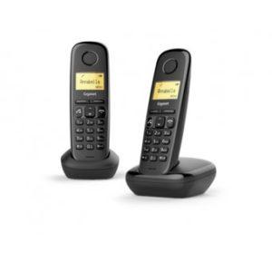 Telefono Fijo Inalambrico Gigaset A270 Duo GIGASET-A270DBK