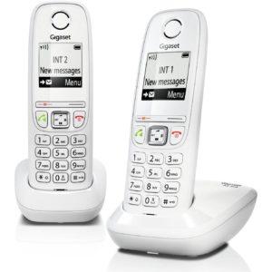 Telefono Fijo Inalambrico Gigaset As405 Duo GIGASET-AS405DWT
