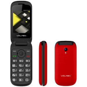 Telefono Movil Volfen Flip Rojo Tipo 00139