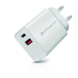 Cargador Dual Movil Smartphone Phoenix 20W MGS0000002838